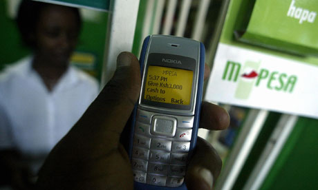 A phone screen with mobile loans message