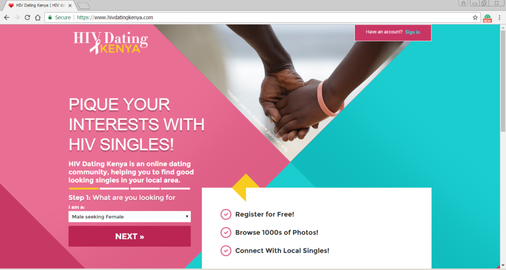 Online dating for hiv positive