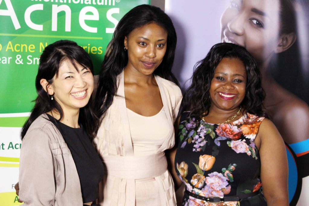 Rohto Metholatum Group skin care session attended by Charity Mwangi