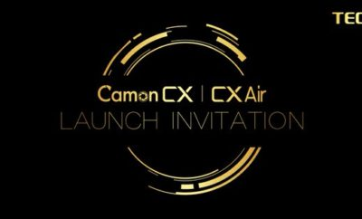 Tecno Camon CX and CX Air launch e-invitation card