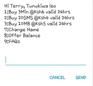 Safaricom Tunukiwa plan for calls, SMS, and Data