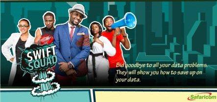 The Safaricom Swift Squad ad barner