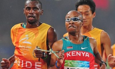 Henry Wanyoike Foundation chairman during a marathon