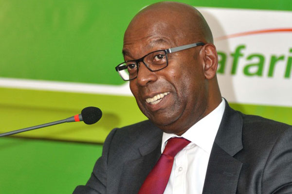 Bob Collymore Safaricom CEO during the launch of the Safraicom office Nyeri