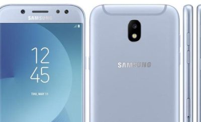 Samsung Galaxy J5 2017 showing the upper front, rear, and side