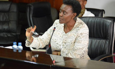 CRA Chairperson Dr. Jane Kiringai during the launch of The Integrated Devolution Data Portal