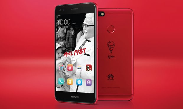 Two KFC-branded Huawei smartphone units