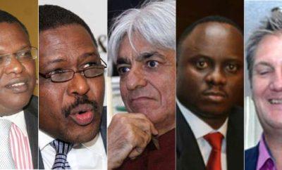 Kenyan Billionaires: Paul Wanderi Ndung'u, Mobicom Group chairman, Gitahi Gachahi, Ernst & Young chief executive, Bharat Thakrar (Scangroup CEO), Philip Muema, former KPMG partner, and Richard Bell, co-founder Wananchi Group