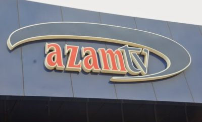 Azam tv signage at the Tanzanian branch