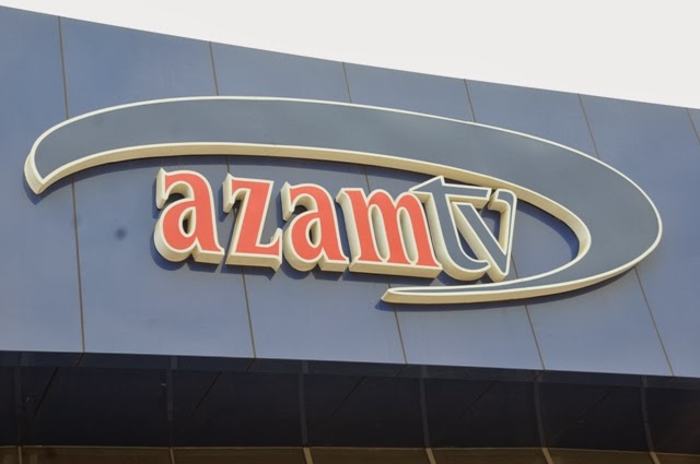 Azam tv signage at the Tanzanian branch