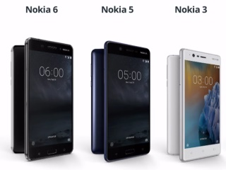 Nokia 3, 5, and 6