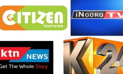 Citizen, KTN, and K24 logos; The are among top rated tv stations