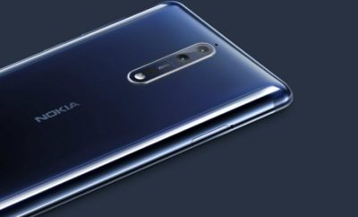 Nokia 8 unit showing the rear