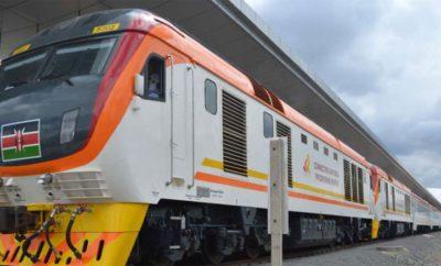 A Madaraka Express Train at the station
