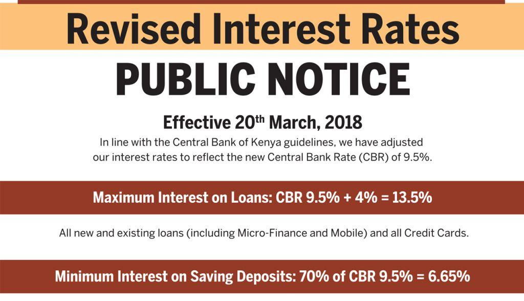 New Equity Bank Interest Rates for Loans and Saving Deposits