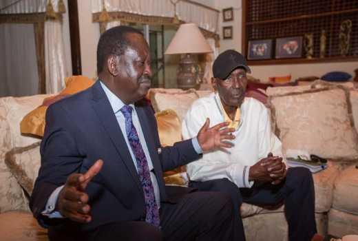 Chris Kirubi Visited By Raila Odinga at his Home – Photos & Video