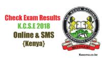 Download KCSE RESULTS 2018
