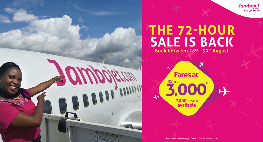 Jambojet hits 2.5 million passengers' milestone, Offers  35 % discount on tickets
