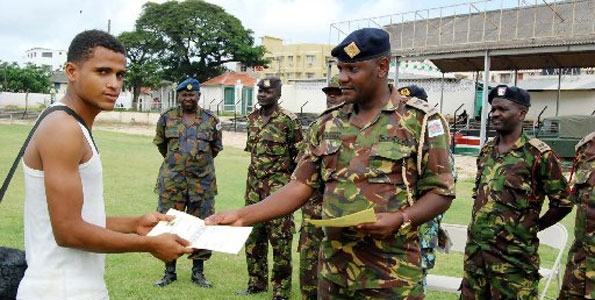 KDF 2021-2022 Recruitment Dates and Centres