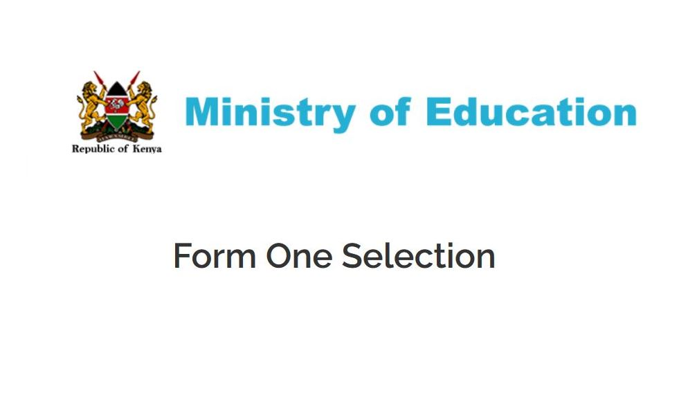 Access Form One School Selection System for County Schools