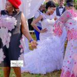 White rose bridal Joy weds paul edding in kenya