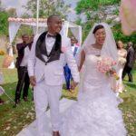 White rose bridal Joy weds paul newly wed
