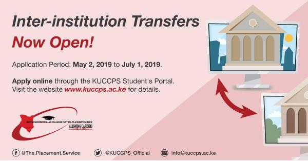 KUCCPS Inter Institution Transfer 2019/2020 (Guide)