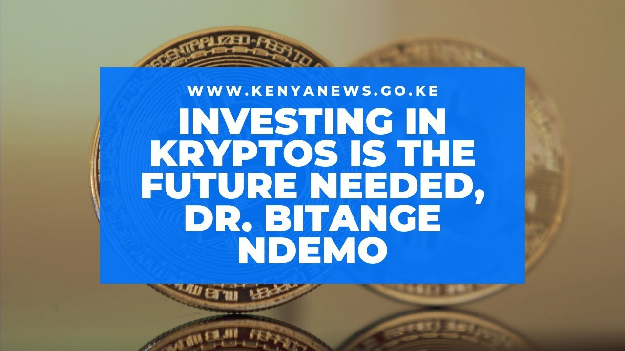 Investing In Kryptos Is The Way To Go, Dr. Bitange Ndemo