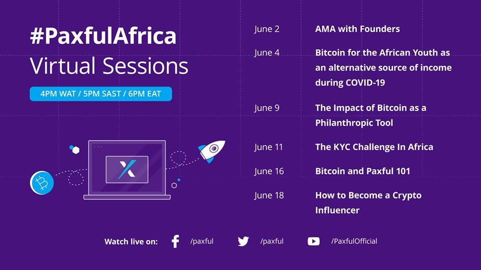Paxful Launches A Series of Webinars on the Resourcefulness of Bitcoin During the COVID-19 Pandemic in Africa